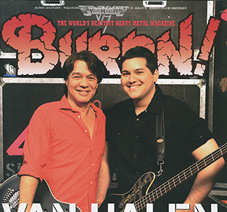 Eddie and Wolfgang Van Halen on the cover of Burrn (Japan)