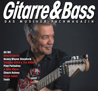 EVH on the cover of Guitar & Bass magazine (Germany)