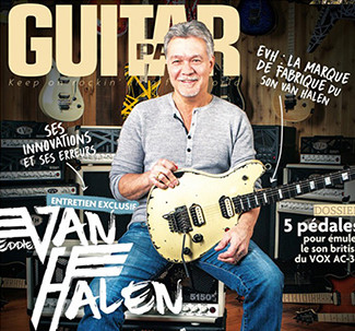 EVH on the cover of Guitar Part magazine (France)