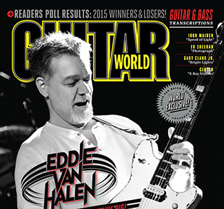 EVH on the cover of Guitar World