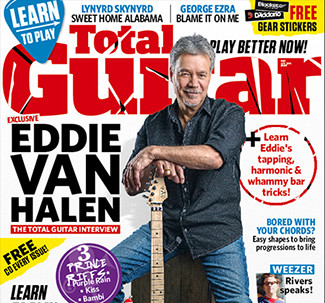 EVH on the cover of Total Guitar Magazine