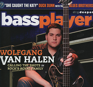 Wolfgang Van Halen on the cover of Bass PLayer magazine